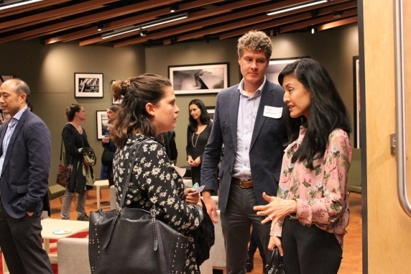 Liza Strauss, Marketing Co-Chair of ASNC's Young Professionals Group (YPG), tells Annabel Chang of Lyft more about YPG. (Asia Society)