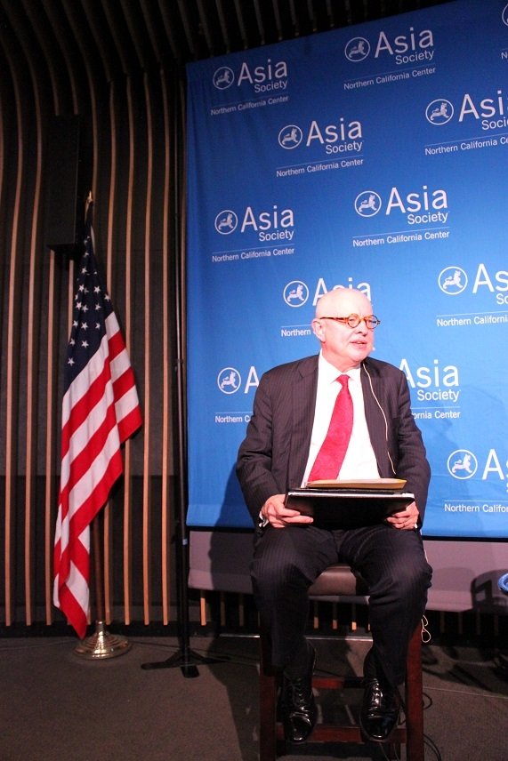 ASNC Advisory Board Co-Chairman Ken Wilcox moderated the evening's discussion. (Asia Society)
