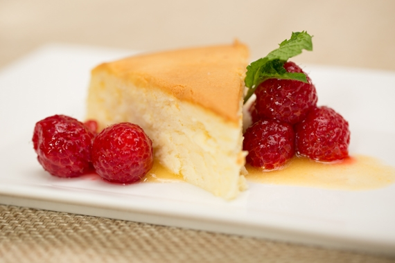 Raspberry Japanese Cheesecake (Great Performances)