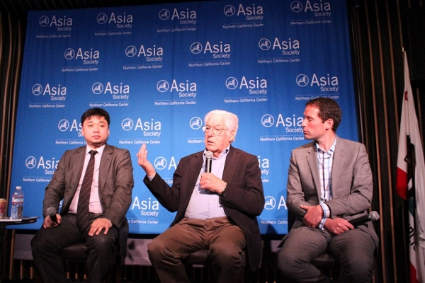 John McQuown of Diversified Credit Investments, LLC talked about innovation in California. (Asia Society)