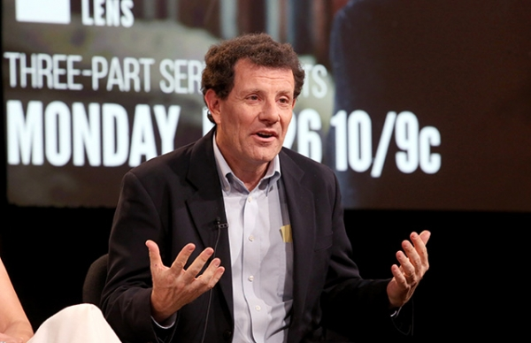 Nicholas Kristof speaks onstage during the 'Independent Lens: A Path Appears' panel discussion at the PBS Network on January 20, 2015 in Pasadena, California. (Frederick M. Brown/Getty Images)