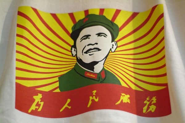 "An ""ObaMao"" shirt for sale in Shanghai. (lincolnblues/flickr)"