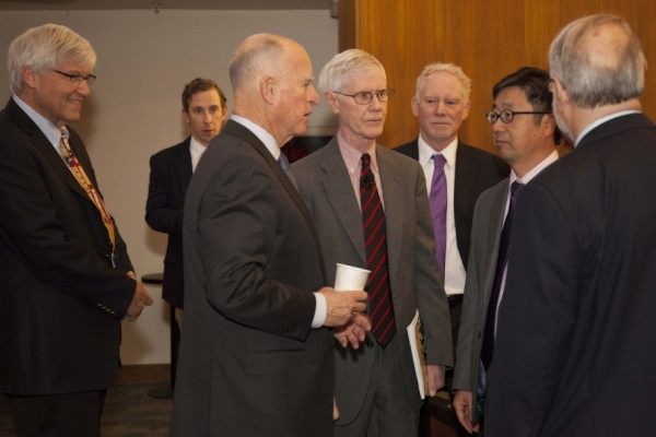 "California Governor Jerry Brown spoke in March at the launch of a new Asia Society Report, ""A Vital Partnership: U.S. and China Collaborating on Clean Energy and Combating Climate Change."" (Asia Society)"