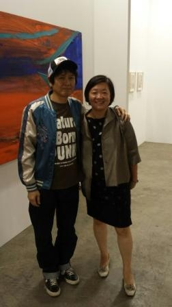 At Art Basel Hong Kong with artist Nara Nishitomo (Photo by S. Alice Mong)