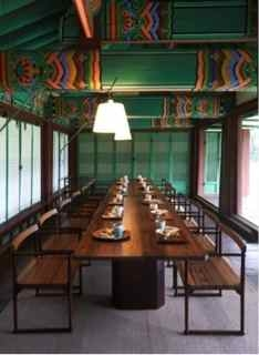 Tea Table Setting Inspired By Korean Heritage, Changdeokgung Palace.The  Department Of Korean Cuisine