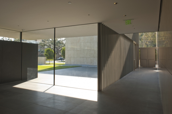 View from the North Gallery, looking back toward the valet entrance.  (Paul Hester)