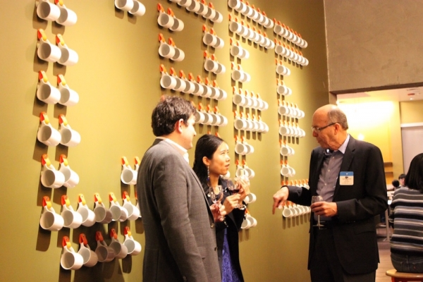 Attendees taste Vaso Wine from Dana Estates (Ranna Iglesias Asia Society).