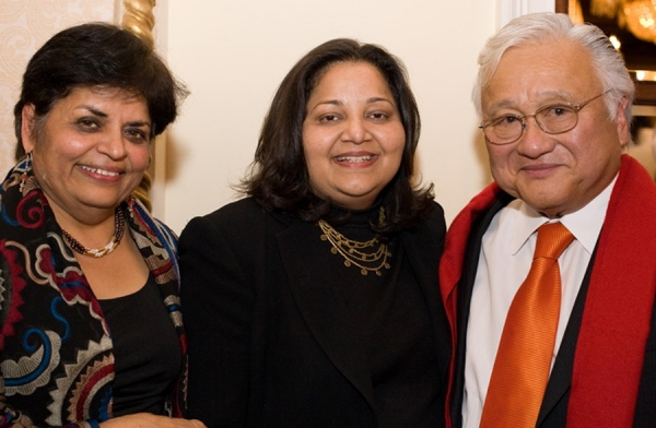 Asia Society President Vishakha Desai, Preeta Bansal, General Counsel and Senior Policy Advisor at the Office of Management and Budget (OMB) under Obama's administration, and Congressman Mike Honda. (Les Talusan/Asia Society)