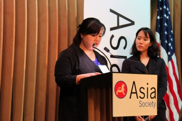 Jin Hye Jo told her story to a packed room at ASNC (Asia Society)
