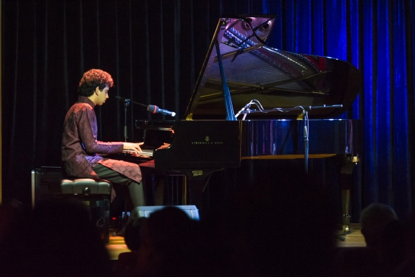 After Chatterjee, pianist Utsav Lal performed solo at Asia Society Hong Kong Center on December 8, 2012. (Nick Mak/Asia Society Hong Kong Center)
