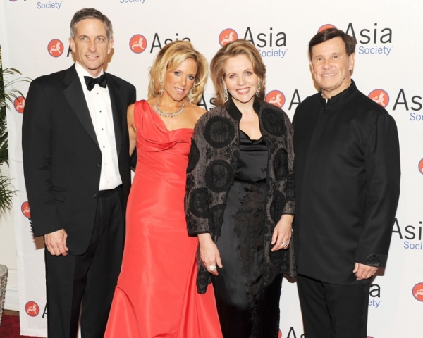 L to R: Tim Jessell, Stephanie Foster, Renee Fleming, and John Foster. (Barry Farrell)