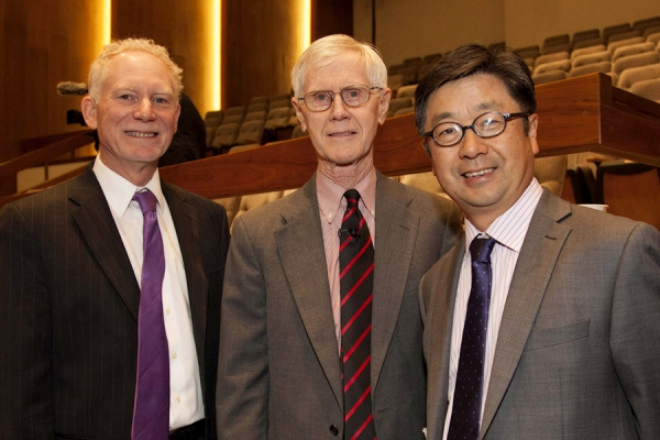 Bruce Pickering, Orville Schell, and Jiang Lin (Lisa Sze Photography)