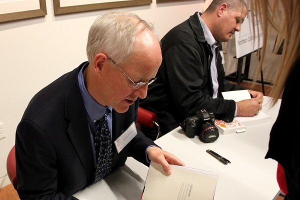 Best-selling author Blaine Harden and Pulitzer Prize winning Adam Johnson joined us for a talk on North Korea in March. (Asia Society)