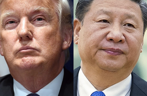 U.S. President Donald Trump (L) and Chinese President Xi Jinping.