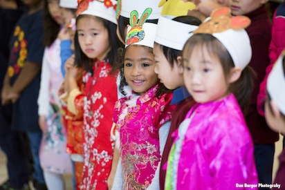 Kindergarten Students Perform at Lunar New Year Celebration. (Dan Berger Photography)
