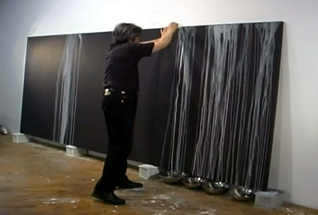 Painter Hiroshi Senju at work, from his video profile