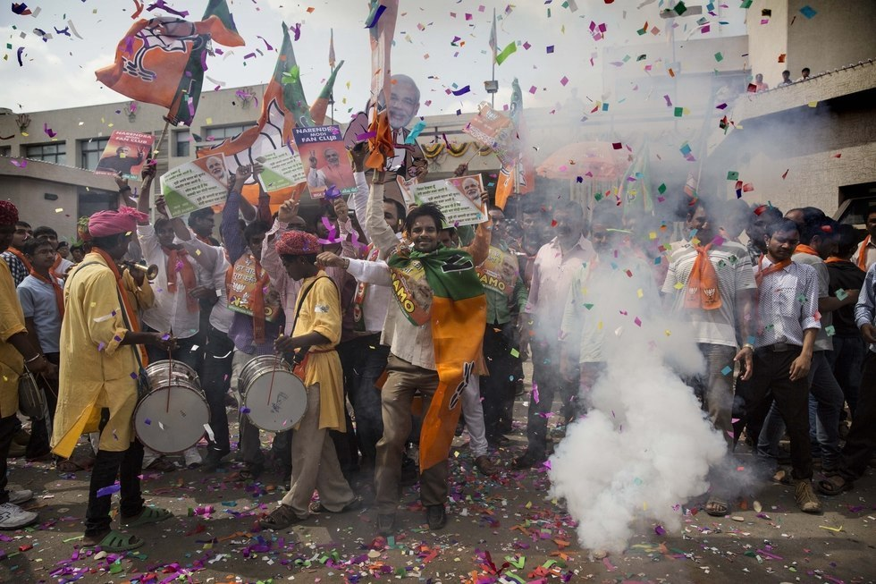 Image result for election celebrations india