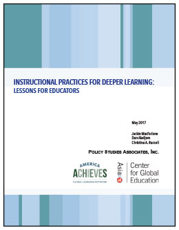Instructional Practices for Deeper Learning: Lessons for Educators [Report cover]
