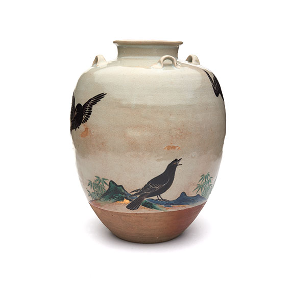 Nonomura Ninsei (Japanese, active ca. 1646–77). Tea Leaf Jar. Edo period (1615–1868), 1670s. Japan, Kyoto Prefecture.