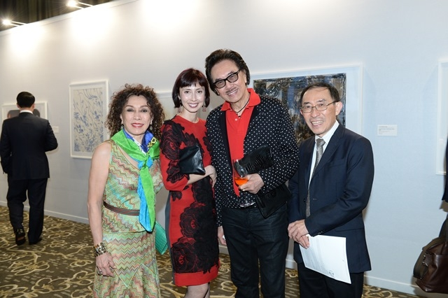 (L to R) Deddy Kusama, Melissa Chiu, Deddy Kusama, Ken Hakuta at Asia Society's second annual Art Gala on May 12, 2014. (Asia Society Hong Kong Center)