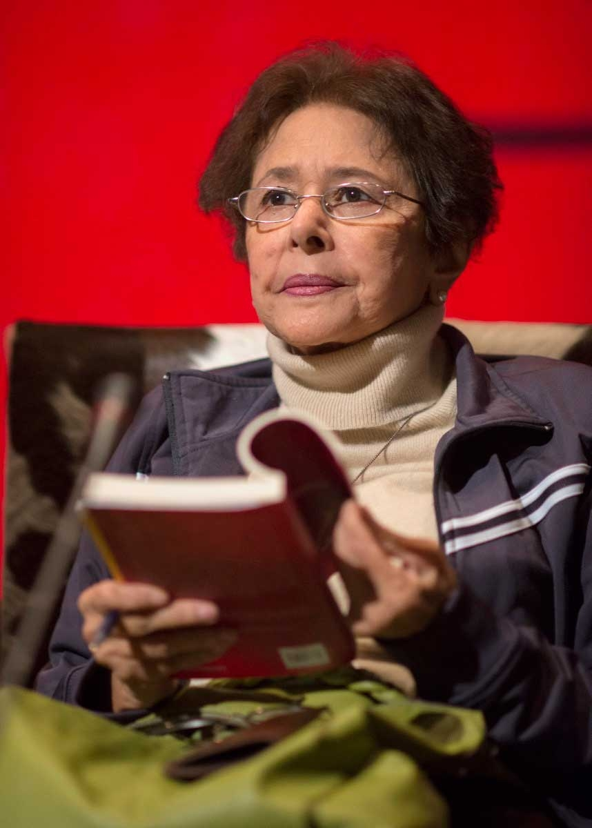 Bapsi Sidhwa read from her works on Day 2 (February 24) of the LLF. (Saad Sarfraz Sheikh)