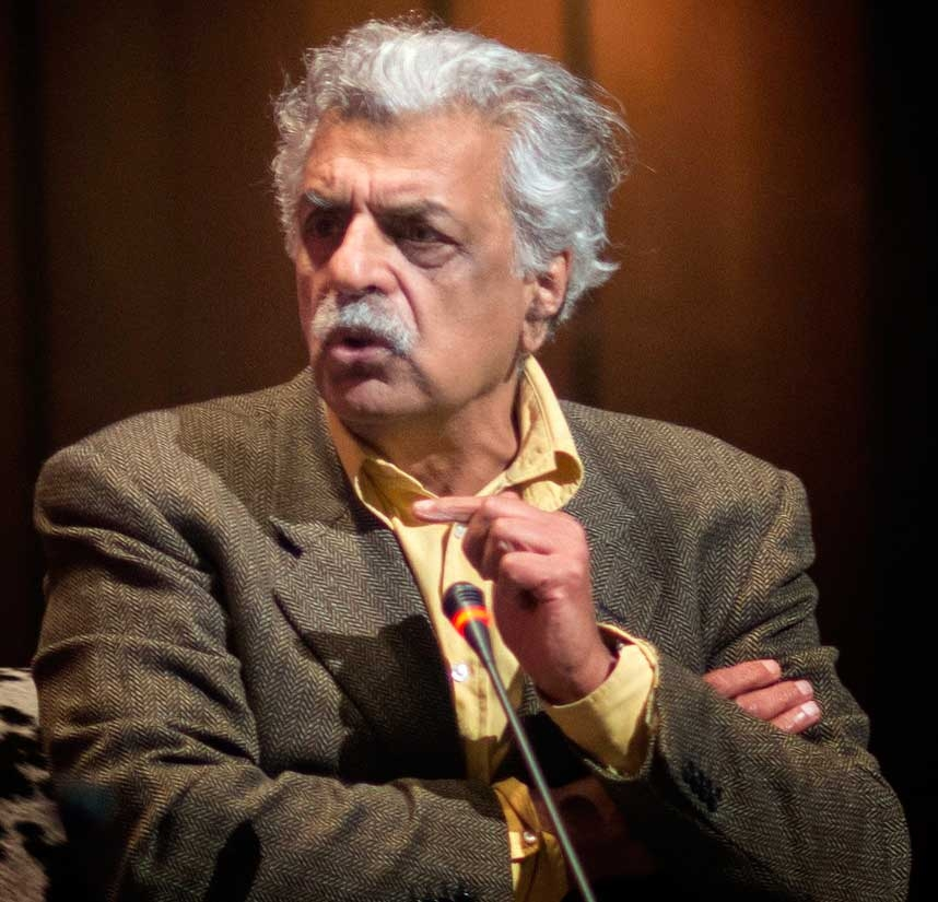 "Tariq Ali delivered a keynote, ""Politics and Culture: Past and Present,"" at the Festival opening on February 23. (Saad Sarfraz Sheikh)"