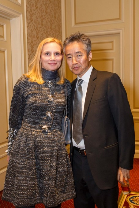 Iwona and Norbu Tenzing. The Tenzings are Asia Society supporters and also work with Asia Society Board Member Richard Blum at the American Himalaya Foundation. (Drew Altizer/Asia Society)
