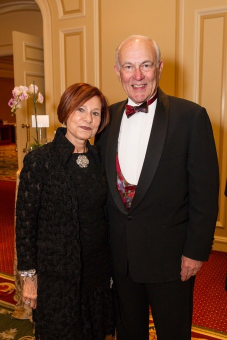Annual Dinner guests Naomi and Bruce Mann. (Drew Altizer/Asia Society)