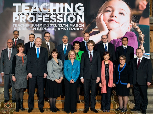Education officials at the 2013 International Summit on the Teaching Profession