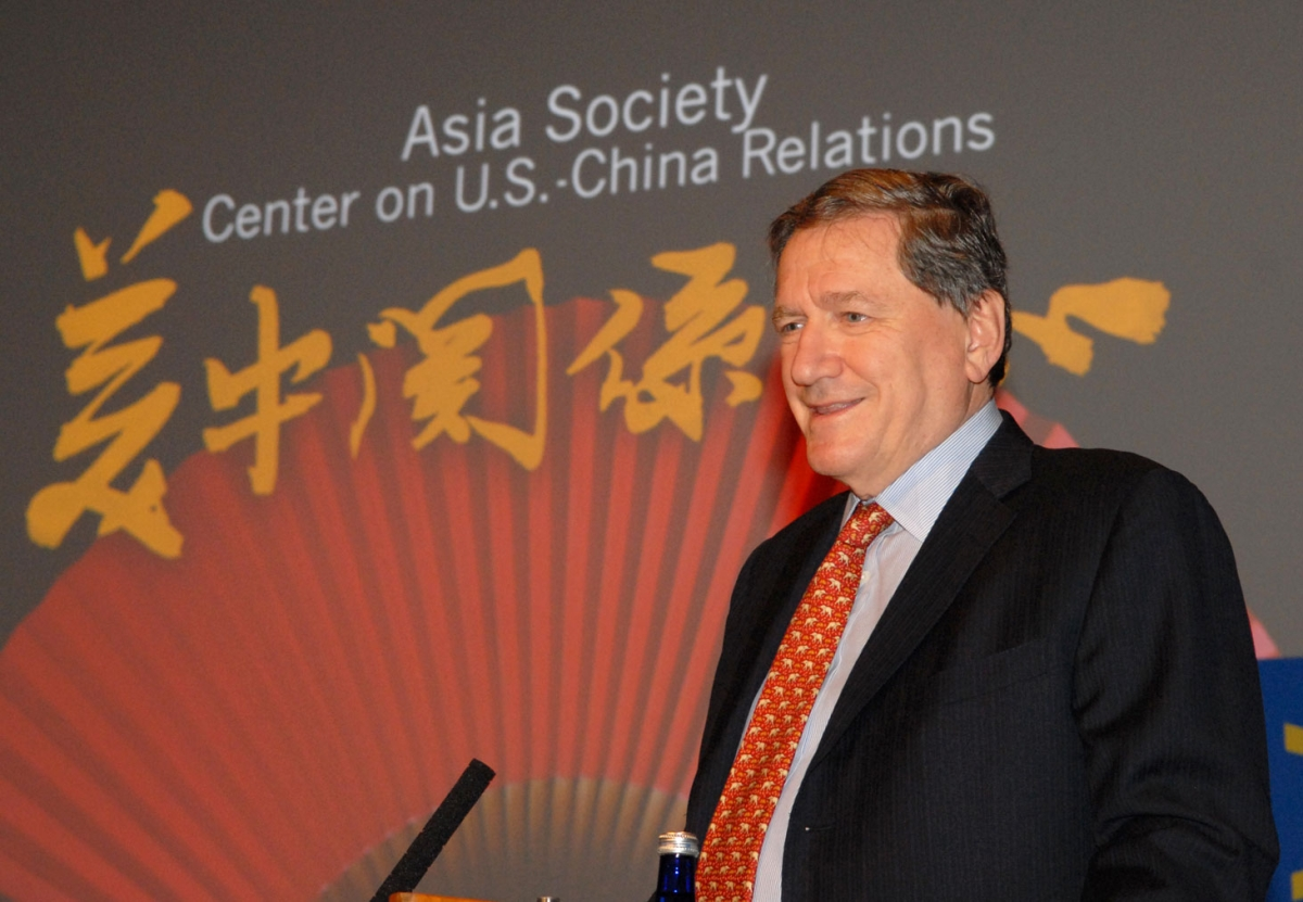 Ambassador Holbrooke at the official opening of the Center on US-China Relations, September 2007. (Photo by Elsa Ruiz)