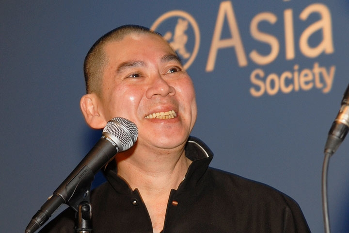 Tsai Ming-Liang at the Asia Society in Nov. 2009. (Barbara Nelson)