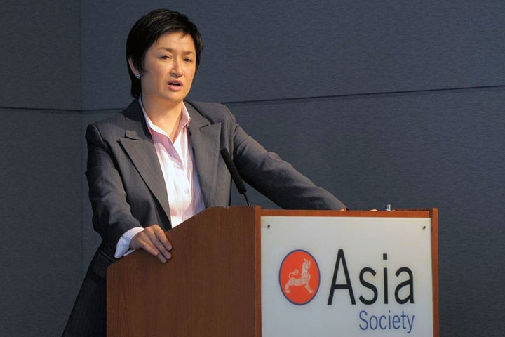 Australia's Minister of Climate Change and Water Penny Wong at Asia Society on Sept. 23, 2009. (Elsa Ruiz/Asia Society)