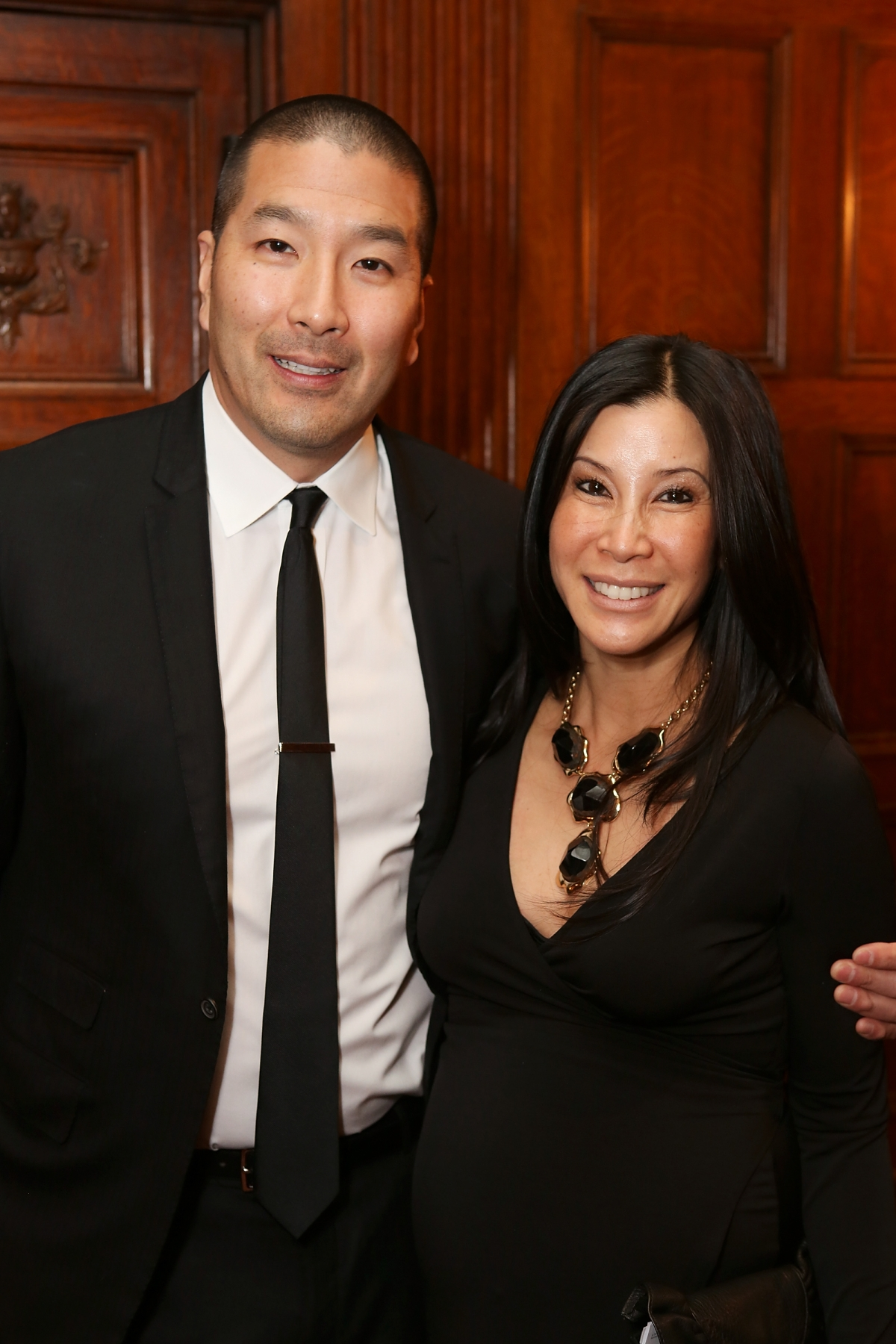 From left, Dr. Paul Song and host journalist Lisa Ling pose during the Asia Society Southern California 2013 Annual Gala held at the Millennium Biltmore Hotel on Tuesday, February 19, 2013 in Los Angeles, Calif. (Photo by Ryan Miller/Capture Imaging)