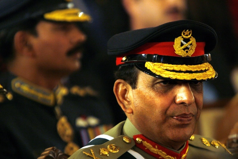 Pakistani army Chief General Ashfaq Kayani takes his seat for the official oath-taking ceremony of new prime minister, Yusuf Raza Gillani, at the Presidency on March 25, 2008, in Islamabad, Pakistan. This month, Kayani has been granted a three-year extension as Army Chief by Gillani. (Photo Warrick Page/Getty Images)