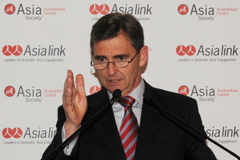 The Hon John Brumby MP announces the launch of the Westpac Group's Cultural and Language Learning Program for China and India in Melbourne on August 4, 2010.