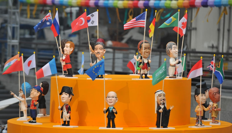 Dolls of leaders of the participating nations are displayed for the upcoming G20 summit during the Seoul Lantern Festival at the Cheonggye stream in Seoul on November 5, 2010. (Kim Jae-Hwan/AFP/Getty Images)