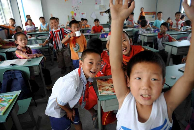 Students in a classroom. (China Photos/Getty Images)