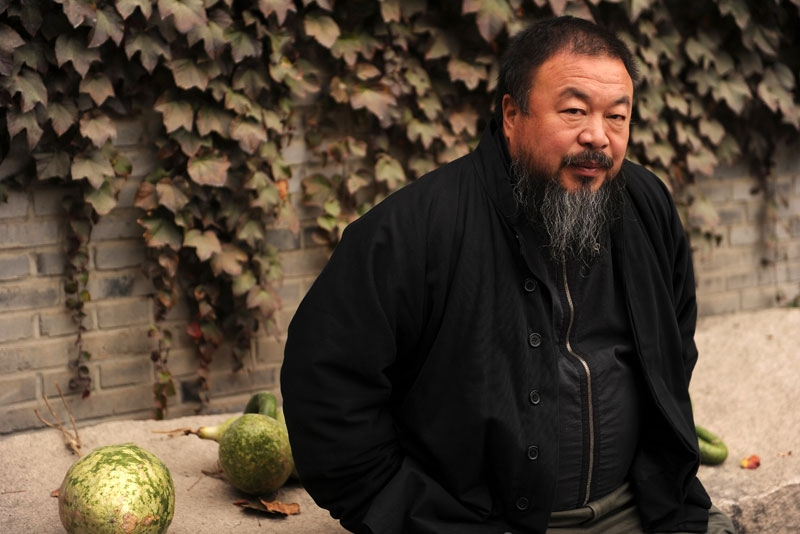 Chinese artist Ai Weiwei in the courtyard of his home in Beijing, where he remains under house arrest, on Nov. 7, 2010. (Peter Parks/AFP/Getty Images)