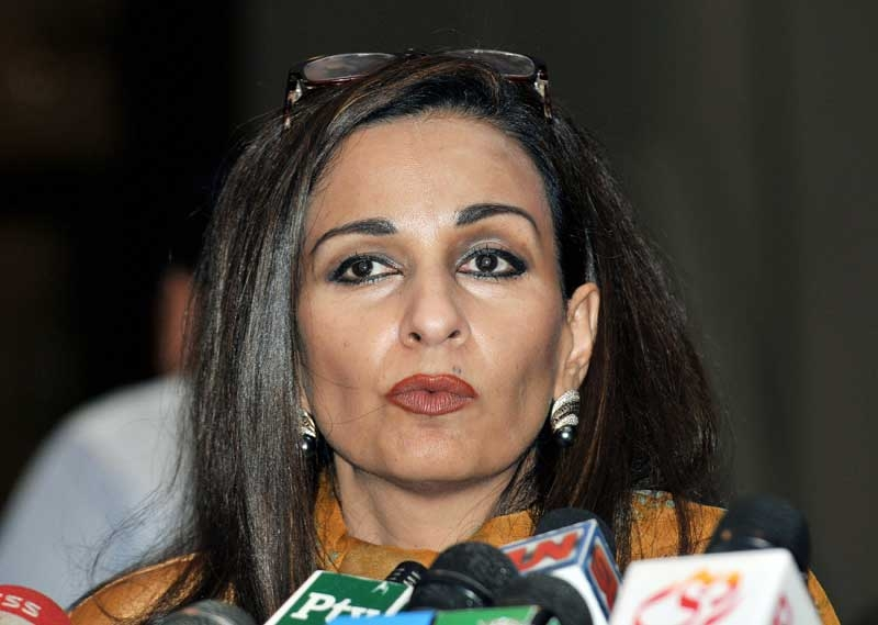 Then-Pakistani Information Minister Sherry Rehman briefs media representatives in Islamabad in 2008. Rehman was named Pakistan's Ambassador to the U.S. on Nov. 23, 2011. (Farooq Naeem/AFP/Getty Images)