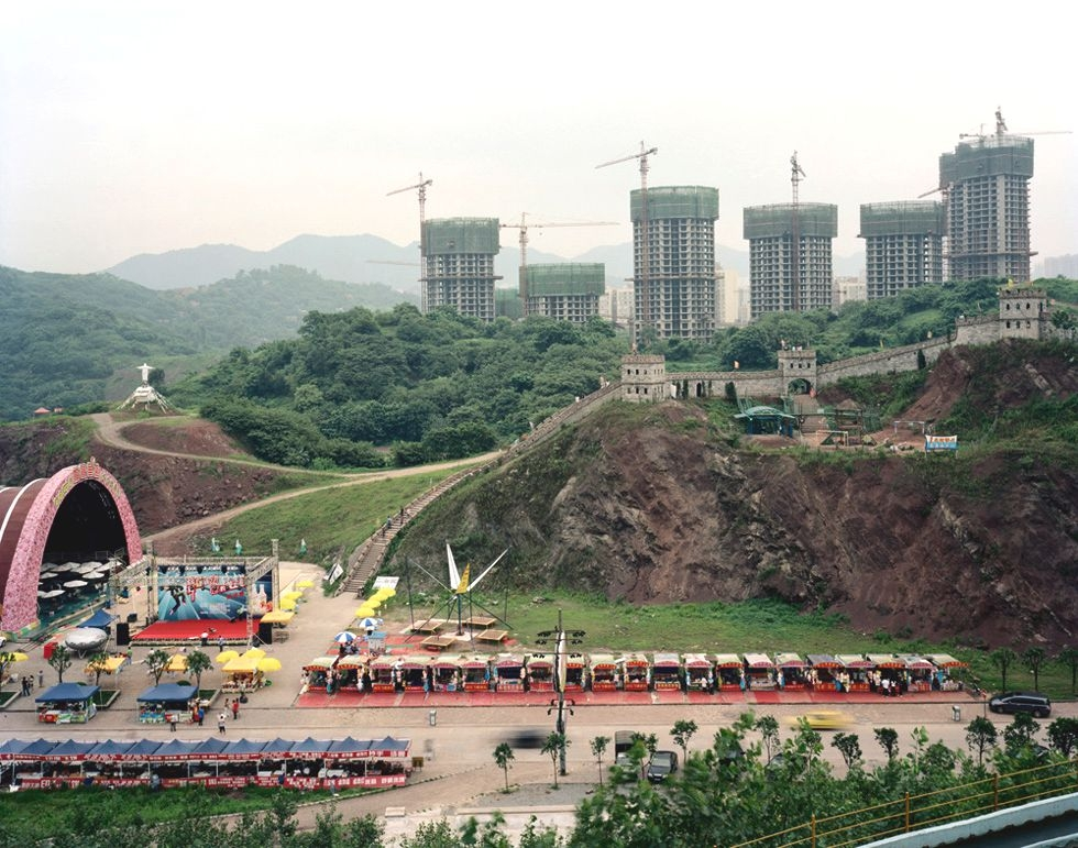 A replica of the Great Wall at a theme park in Chongqing. (Bo Wang)