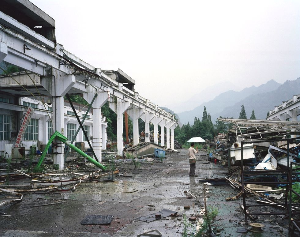Ruins one year after the earthquake in Hanwang, northern Sichuan. (Bo Wang)