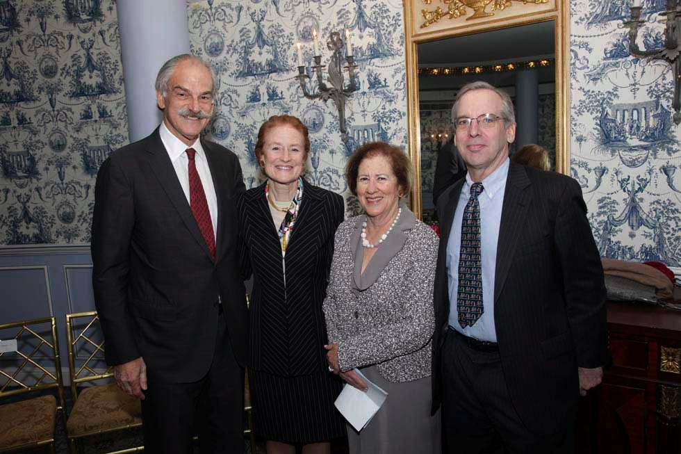 L to R: John P. Lipsky, Henrietta Fore, Betsy Cohen, and Economic Club of New York President, William Dudley. (Brian Stanton)