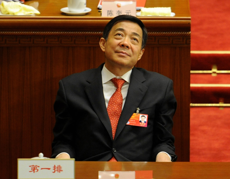 Bo Xilai, Communist Party chief in Chongqing, made headlines when he was stripped of his posts and investigated along with his wife in the death of a British businessman. Photographed at the closing ceremony of the National People's Congress in Beijing on March 14, 2012. (Mark Ralston/AFP/Getty Images)