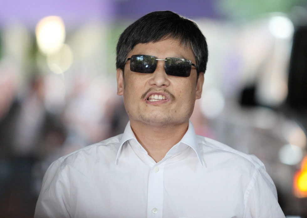 Blind Chinese activist Chen Guangcheng, best known for exposing China's alleged abuses in official family-planning practices, escaped house arrest in China and moved to New York City with his family. Photographed in New York on May 19, 2012. (Andy Jacobsohn/Getty Images)