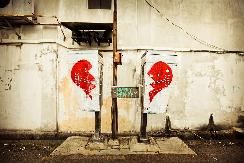 """Broken Hearts,"" located on Love Lane, near the junction with Chulia Street. (Catherine Mar)"