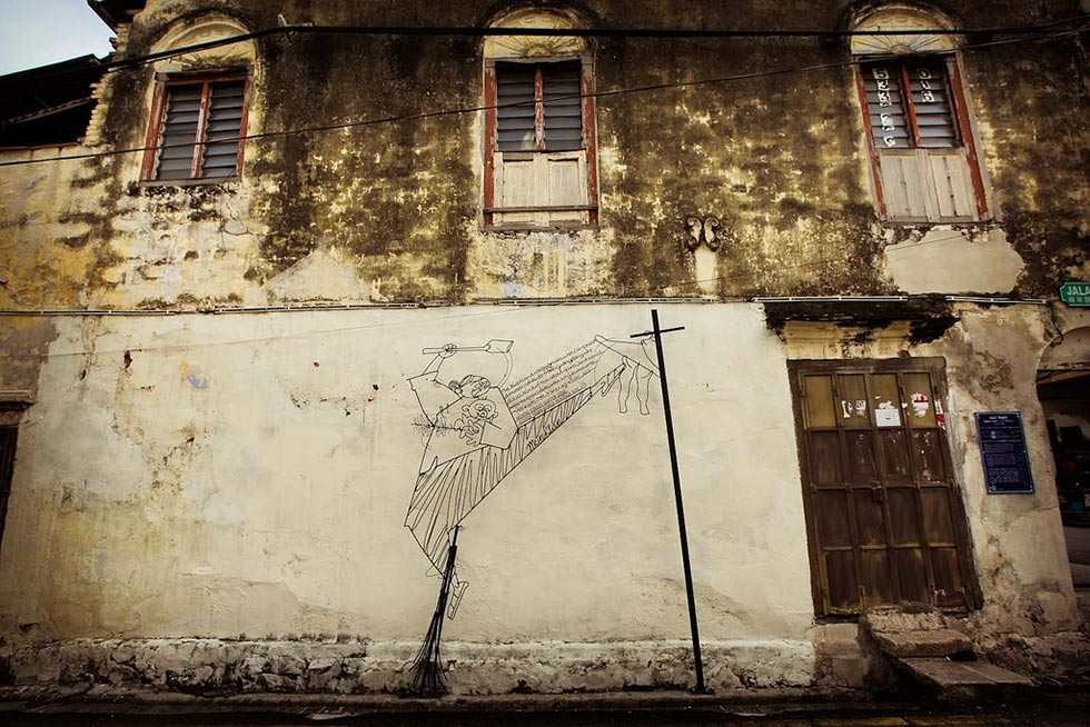 """Wire Street"" by artist Tang Mun Kian, in George Town, Penang. (Catherine Mar)"