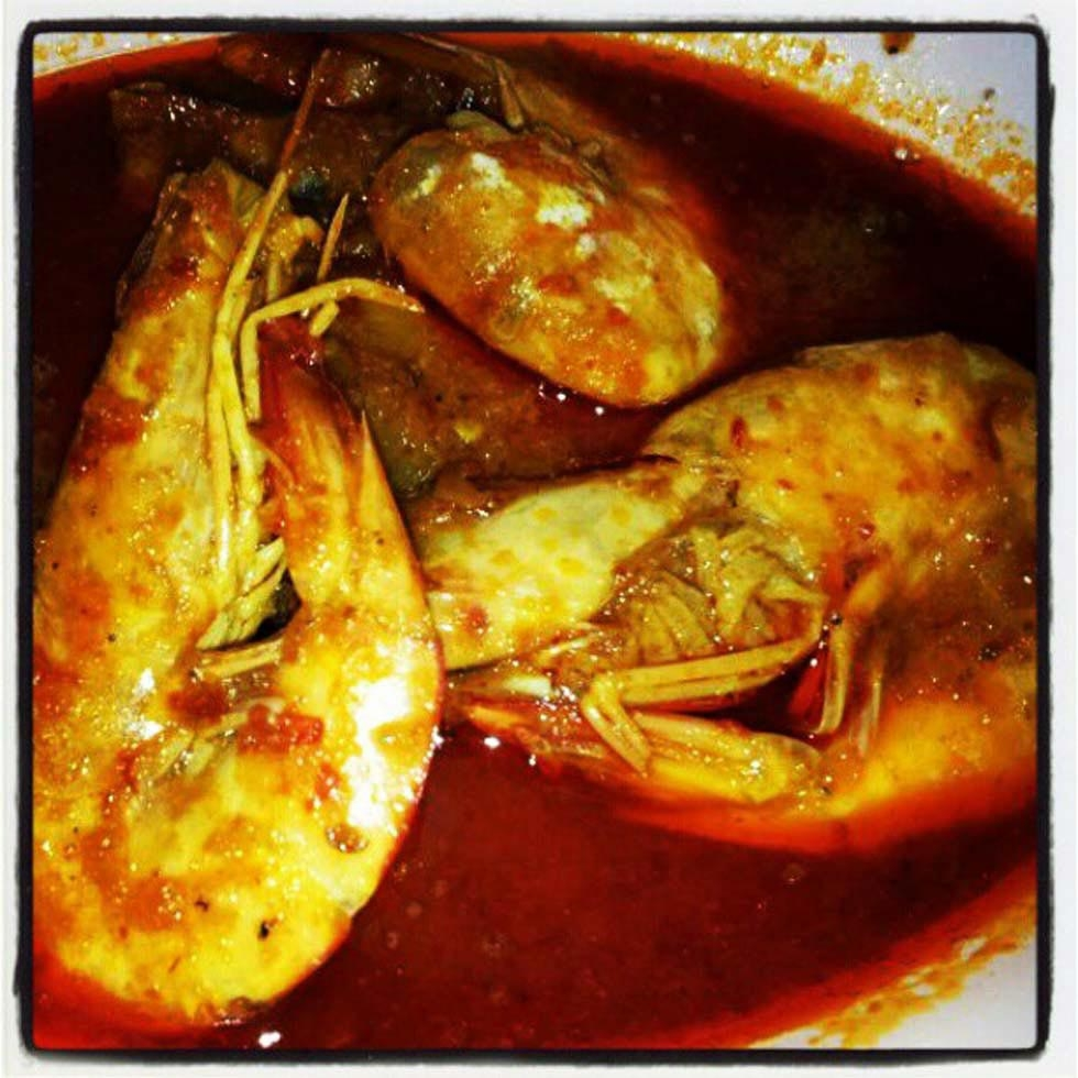 "29. ""Big prawn pineapple curry for dinner."" (easteryeoh)"