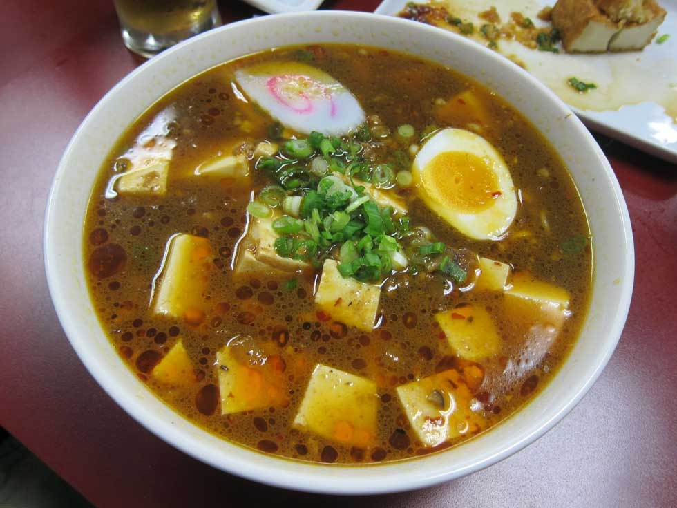 Mabo ramen at Foo-Foo Tei, Keizo Shimamoto's neighborhood ramen shop, in Hacienda Heights, CA. (Keizo Shimamoto)