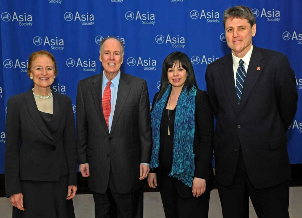 L to R: Henrietta H. Fore, Thomas Donilon, Suzanne DiMaggio and Asia Society Executive Vice President Tom Nagorski at Asia Society New York on March 11, 2013. (Elsa Ruiz/Asia Society)