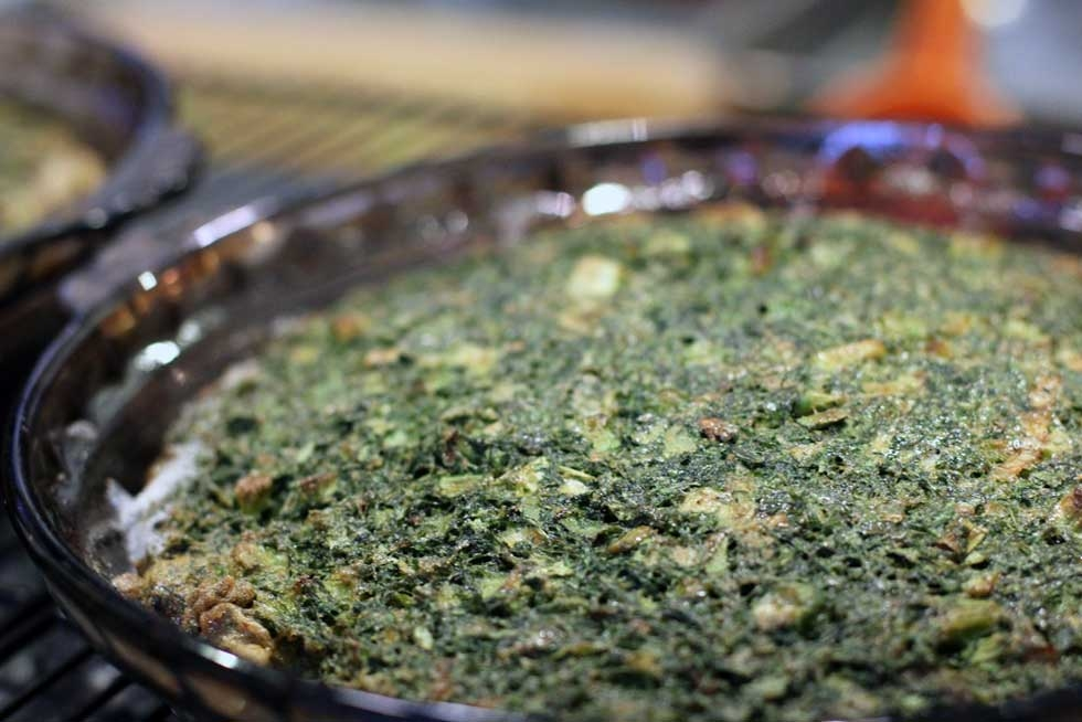 Herb kuku, an omelette made from fresh green herbs that's another traditional New Year's dish. (Three Points Kitchen/Flickr)